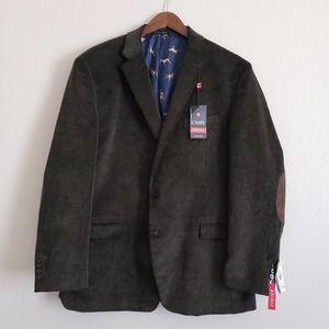 CHAPS Men's Brown Sports Coat 48L Elbow Suede Pads